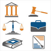 Justice and law. Vector icons. — Stock Vector