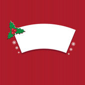 Illustration winter label with text Merry Christmas. Vector — Vecteur