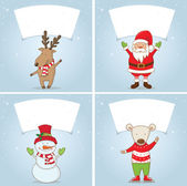 Set Illustration winter label with Christmas motifs .Vector — Stock Vector