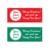 Christmas characters and labels words Merry Christmas .Vector — 图库矢量图片