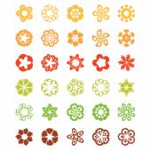 Set of flat icon flower.Vector — Vector de stock