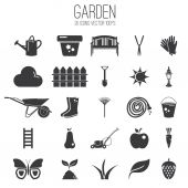 Illustration set icon of garden. Vector — Stock Vector