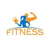 Uomo e donna di temp di fitness sagoma carattere vettoriale progettazione — Vettoriale Stock