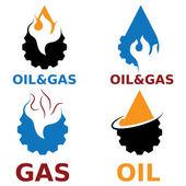 Oil and gas industry vector design elements — Vector de stock