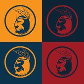 Homme de chef amérindien en coiffure tribal — Vecteur