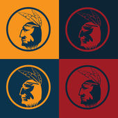 Native American chief man in tribal headdress — Stock Vector