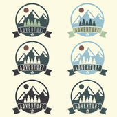 Set of adventure vintage labels — Stock Vector
