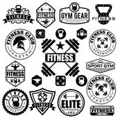 Set of various sports and fitness icons and design elements — Wektor stockowy