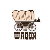 Wagon western bar concept vector design template — Stock Vector