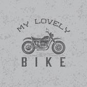 Vintage grunge motorcycle graphic vector design template — ストックベクタ