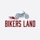 Vintage  motorcycle with flames graphic vector design template — Stockvektor