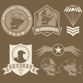 Special unit military emblem set vector design template — Stock Vector