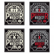 Prisoner whiskey vintage labels set vector design template — Stock Vector #59053321