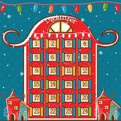 Illustration of a Christmas calendar. vector — Stock Vector