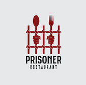 Prisoner restaurant concept vector design template — Stock Vector