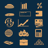 Set of business and finance icons — Stock Vector
