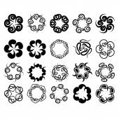 Set of flat icon flower.Vector — ストックベクタ