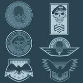 Special unit military emblem set vector design template — Stockvector