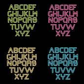 Neon alphabet set — Stock Vector
