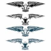 Eagles set vector design template — Stock Vector