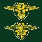 Football team crests set with eagles vector design template — ストックベクタ