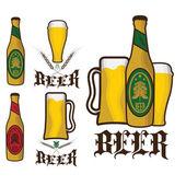 Set of vintage beer labels — Stock Vector