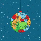 Illustration of Christmas ball. Vector — Stok Vektör