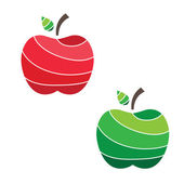 Illustration of juicy apples. vector — Stock Vector