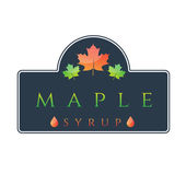 Illustration of label maple syrup. Vector — Stock Vector