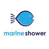Illustration concept of marine shower. Vector — Stock Vector