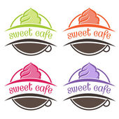 Illustration of cakes label. Vector — ストックベクタ
