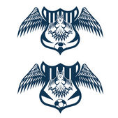 Football team crests set with eagles vector design template — Stock vektor