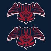 Football team crests set with eagles vector design template — Stockvektor