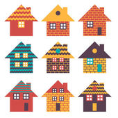 Illustration set of houses .Vector — Stock Vector