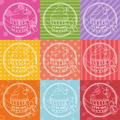 Collection of vintage retro bakery logo labels  — Stock Vector