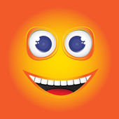Illustration funny smile. Vector — Stock Vector