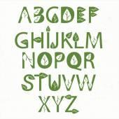 Vector green eco alphabet  — Stock Vector