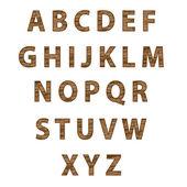 Textured tree font. Vector — Stock Vector