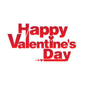 Illustration congratulation on valentine's day. Vector — Stock Vector