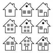 Illustration set of houses .Vector — Stock Vector