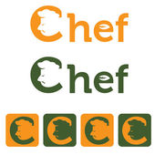 Chef and web icons set vector design template — Stock Vector
