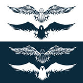 Eagles set vector design template — Stock Vector
