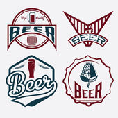 Set of beer vintage labels — Stock Vector