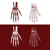 Set of skeleton hands — Stock Vector