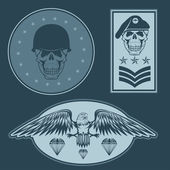 Special unit military emblem set vector design template — Vecteur