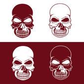 Set of skulls vector design template — Stock Vector