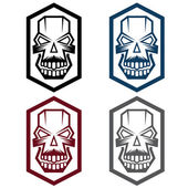 Set of digital skulls — Stock Vector