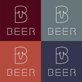 Beer monogram — Stock Vector