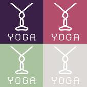 Yoga monogram — Stock Vector