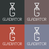 Gladiator monogram — Stock Vector